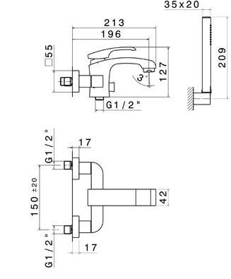 Смеситель Newform 62540C