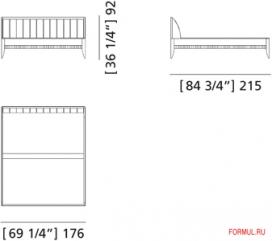 Кровать Morelato Art. 2850
