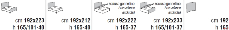 Кровать Cantori Caruso