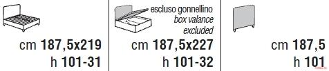 Кровать Cantori Gio