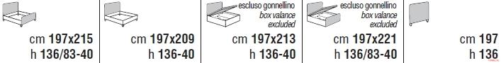 Кровать Cantori Zefiro