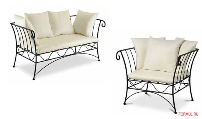 Диван и кресло Cantori Bahamas