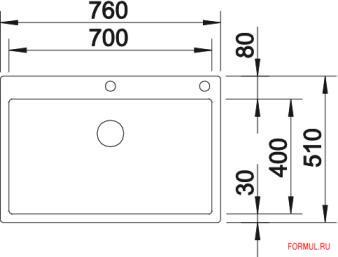 Кухонная мойка Blanco CLARON 700-IF/A