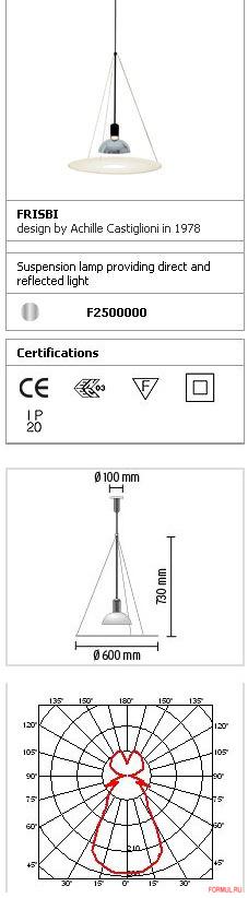 Потолочная лампа Flos Frisbi