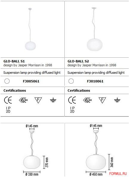 Потолочная лампа Flos Glo-Ball S