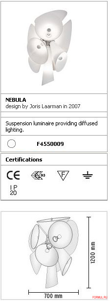 Потолочная лампа Flos Nebula
