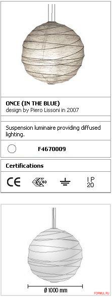 Потолочная лампа Flos Once (in the blue)