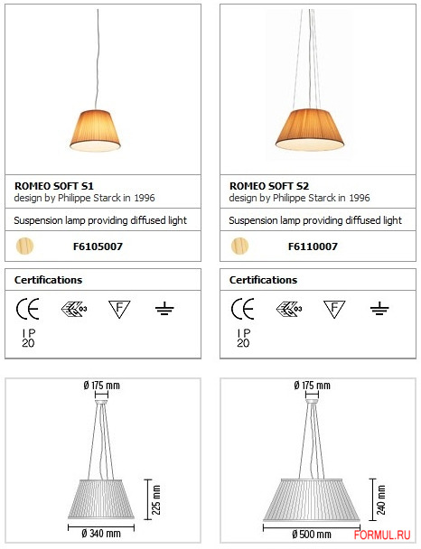 Подвесная лампа Flos Romeo Soft S