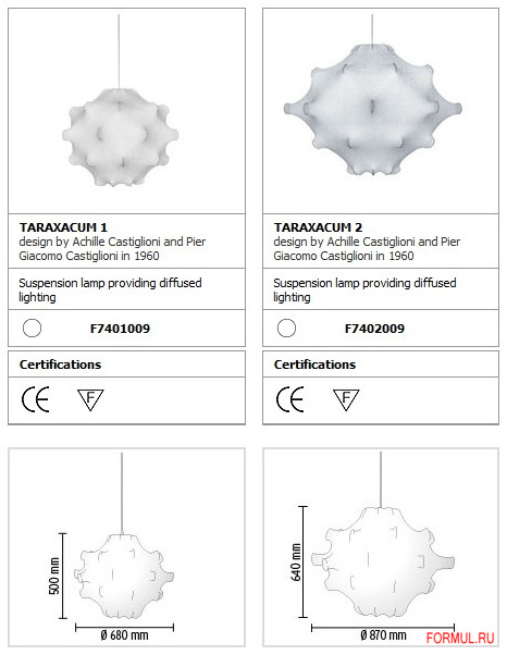 Потолочная лампа Flos Taraxacum