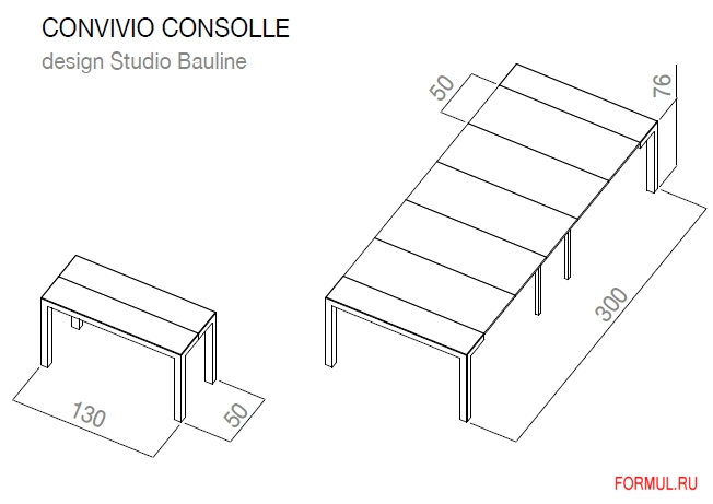 Стол Bauline Convivio consolle