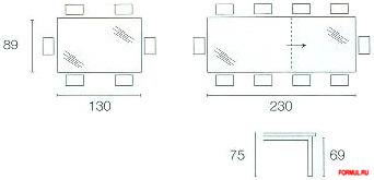 Стол Connubia Key CB/4044-VR