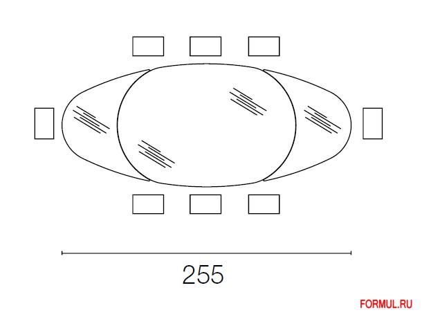 Стол Calligaris Odyssey CS/4043