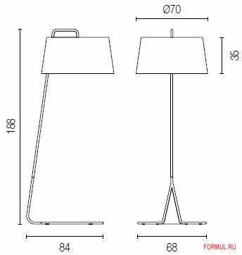 Напольная лампа Calligaris Sextans CS/8007-F