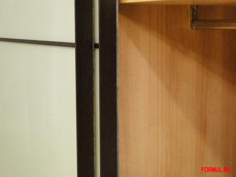 Шкаф купе Spar Tecno из коллекции Pacifico - цвет wenge Стекло - tortora