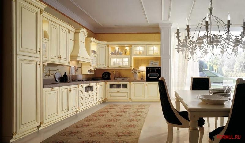 Кухня concreta cucine arrogance impero argento oro