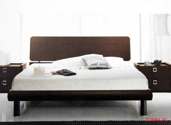 Кровать Spar Testiera GEO из коллекции Unica - цвет wenge