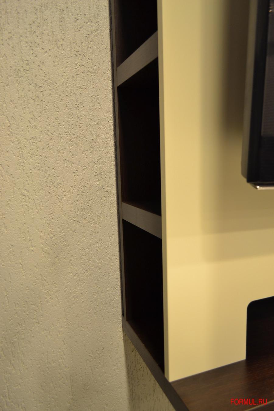 Панель настенная Spar для TV - цвет wenge. фасад Tortora opaco