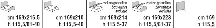 Кровать Cantori Denis
