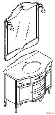 Комплект мебели для ванной Bagno Piu Palladio