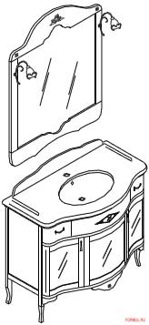Комплект мебели для ванной Bagno Piu Giubileo