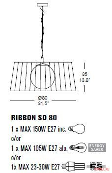 Светильник Morosini RIBBON SO 80