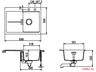 Кухонная мойка Schock Horizont D-100 S