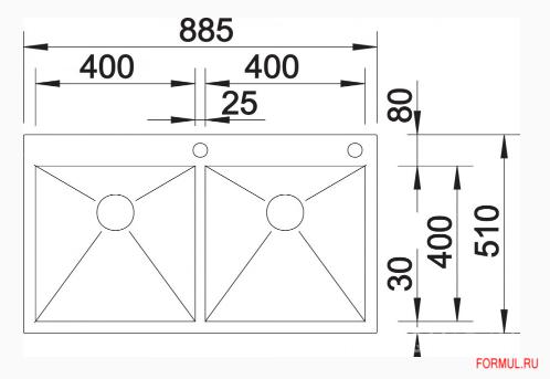 Кухонная мойка Blanco ZEROX 340/180-IF/А, 400/400