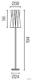 Торшер Calligaris Andromeda CS/8016-F