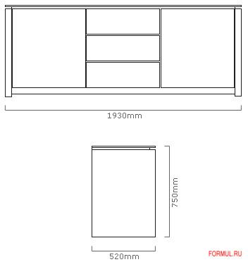 Буфет Calligaris Mag CS/6029-10A