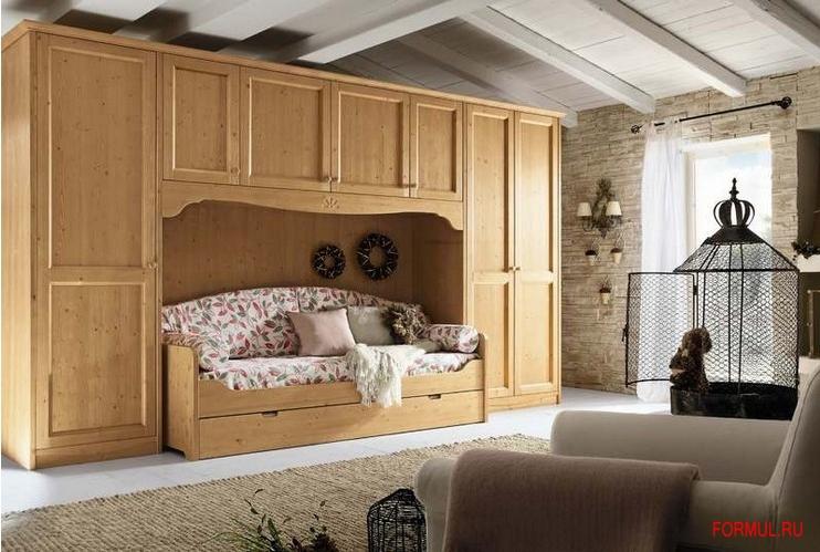 Callesella composizione a ponte con divano letto - Divano letto ad angolo moderno ...