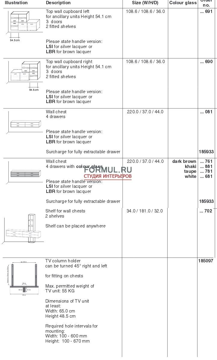 Спальный гарнитур Thielemeyer MIRA 4.0