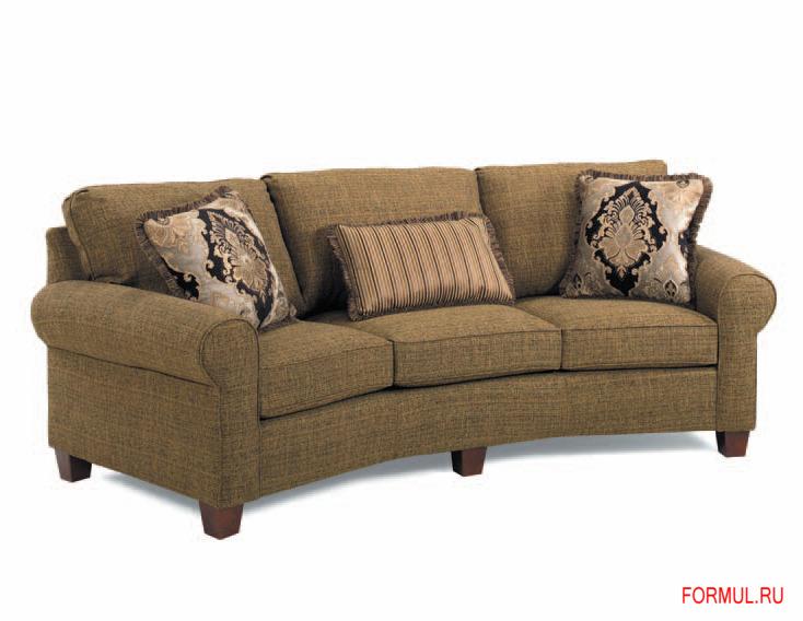 Эксклюзивный диван Lamberty в мехе каракуля и коже. Диван полукруглый, 3-х