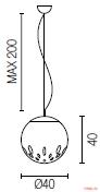 Подвесная лампа Calligaris Aries CS/8011-S