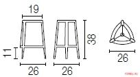 Настольная лампа Calligaris Allure CS/8020-T