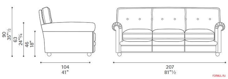 Диван и кресло Poltrona Frau Edoardo