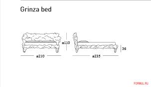 Кровать Edra Grinza Bed