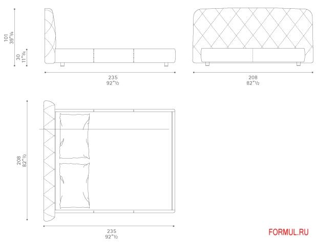 Кровать Poltrona Frau Flair