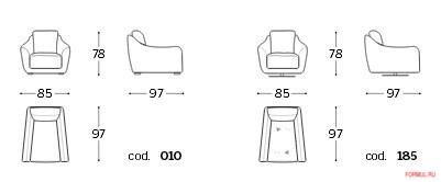 Кресло Polodivani Itaca-atene