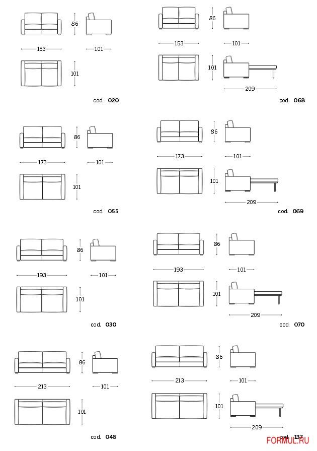 Диван кровать Polodivani Stanley slim