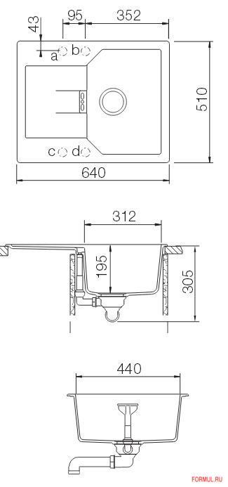 Кухонная мойка Schock Manhattan 40 D