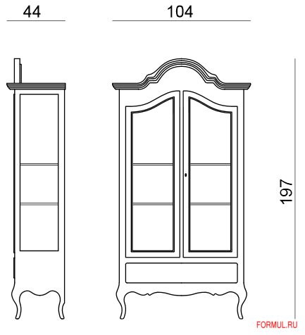 Сервант Tonin Casa PALLAS 1493