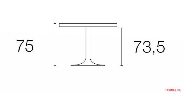 Стол Connubia PLANET CB/4005-VS