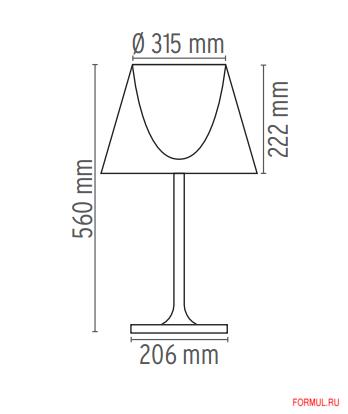 Настольная лампа Flos ktribe t1 glass