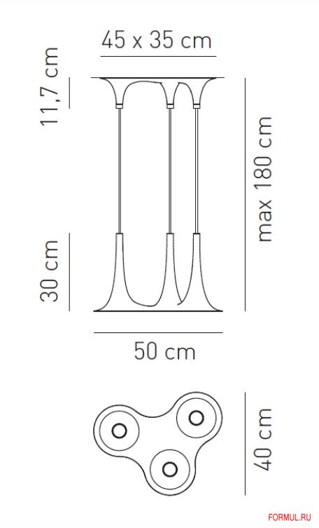 Светильник Axo light SP NAFIR 3
