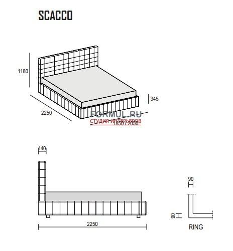 Кровать Dall Agnese Scacco