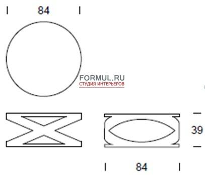 Стол журнальный Tonin Casa RIMINI - 6232