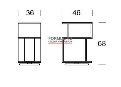 Столик Tonin Casa AIRONE T/6272