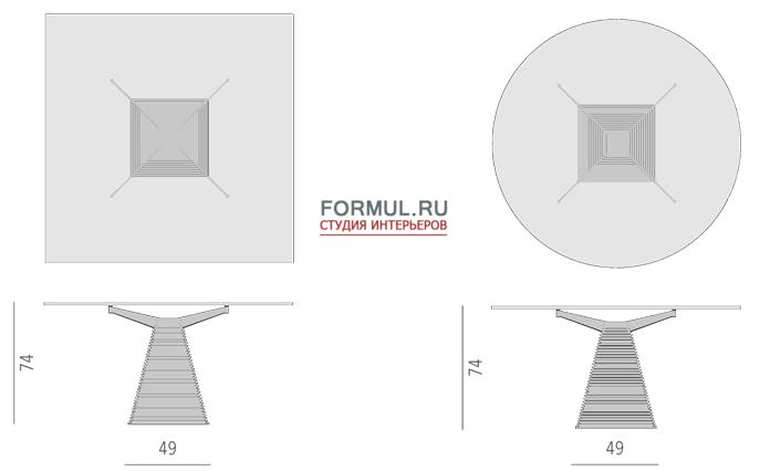 Столик Porada Piramide
