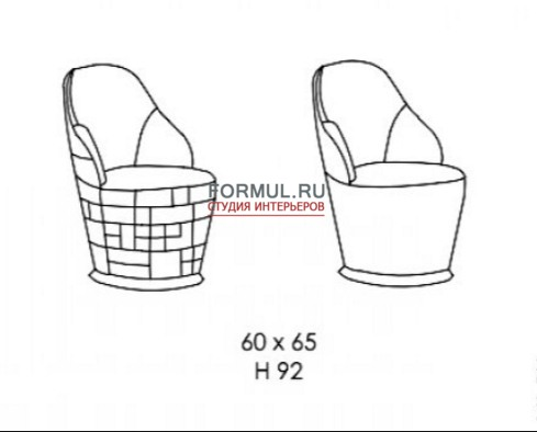 Кресло Bamax ART. A162025