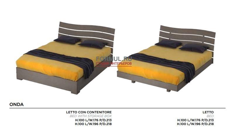 Кровать Mazzali ONDA